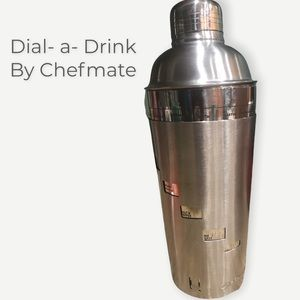 Chefmate• Dial-a-Drink• Stainless Drink Mixer•EUC!